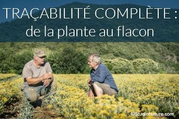 Traçabilité complète : de la plante au flacon